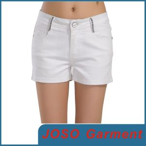 Women White Leisure Short Pants (JC6002) pictures & photos