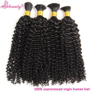 8A Brazilian Kinky Curly Hair Human Braiding Hair Bulk No Weft pictures & photos