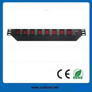 10A, 19-Inch Network Cabinet Individual Switch Control PDU pictures & photos