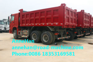 2017 New Red Sinotruk Right Hand Driving 336 HP Front Lifting Heavy Duty Tipper Trucks Lower Fuel Consumption 16m3 Q235 Material pictures & photos