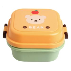 Cartoon Cute Bear Lunch Box Food Container Storage Portable Bento Spoon School pictures & photos