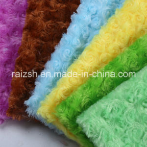 Multi-Color Rose Velvet for Plush Toys Loop Pile Fabric pictures & photos
