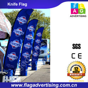 Polyester Flying Beach Knife Flag for Display pictures & photos