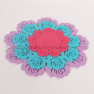 Rose Silicone Mug Coaster in Different Sizes pictures & photos