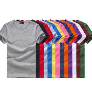 Wholesale Cheap Man Plain Cotton T-Shirt with Different Colors pictures & photos