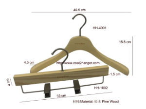 Pine Wood Hanger, Women′s Hanger, Cheap Clothes Pants Luxury Hanger, Suit Hangers. pictures & photos