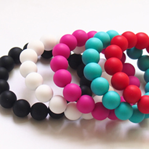 2013 BPA Free Silicone Beads Bracelet for Babies (BT002-06)