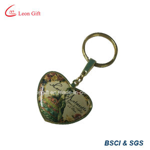 Wholesale Gold Heart Shape Printed Logo Keychain pictures & photos