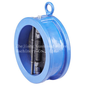 Wafer Butterfly Spring Loaded Double Disc Non Return Check Valve (H76X) pictures & photos