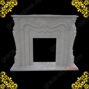 European Style Marble Carved Fireplace (GS-FF-107) pictures & photos