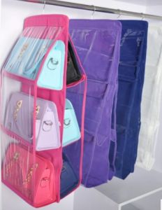 Hanging Handbag Organizer Hanging Bag Holder Hanging Purse Organizer pictures & photos