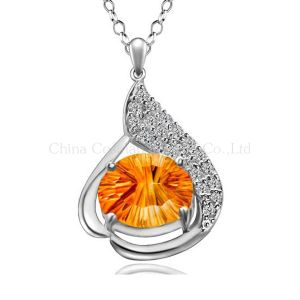Classic Luxury High-End 925 Silver Pendant Droplets