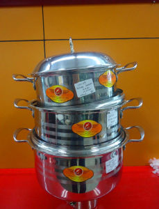 3PCS Stainless Steel Pan with Steel Cover pictures & photos