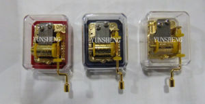 Handcrank Musical Movement Transparent Music Box (YH2JG/C-03) pictures & photos
