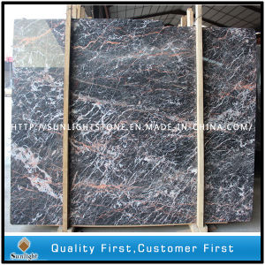Cheap Chinese Cuckoo Red Marble Floor Tiles and Countertop Slabs pictures & photos