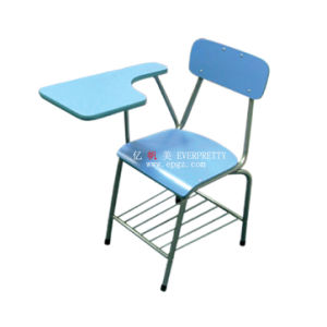 Cheap and Hot Saleclassroom Furniture Student Office Tablet Chair with Bookcase pictures & photos