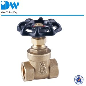 Brass Forged Gate Valve with Casting Iron Handle pictures & photos