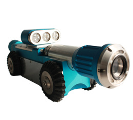 Pipe/ Drain Inspection Crawler with Pan / Tilt Inspection Camera for 100mm --1500mm Pipelines