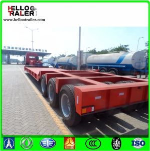 3 Lins 6 Axles 150 Ton Low Bed Truck Semi Trailer for Sale pictures & photos