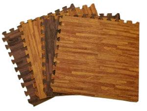 Non-Toxic EVA Foam Interlocking Quzzle Floor Mat with Wood Pattern pictures & photos