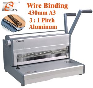 Manual Double Wire Binding Machine for A3 Size Book Binding (CW430) pictures & photos