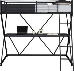 Metal Loft Bed Over Workstation Desk pictures & photos