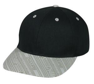 Black 6-Panel Polyester Cap