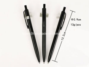 Tc-1030b Simple Design Black Ball Pen Metal Imprint Logo