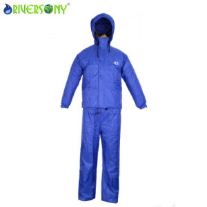 Nylon PVC Rainsuit pictures & photos