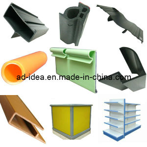 PVC Extruder, Rigid Plastic Profile RoHS Extruded PVC Profile pictures & photos