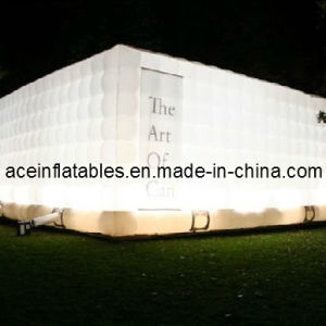 Customized Lighting White Cube Inflatable Tent
