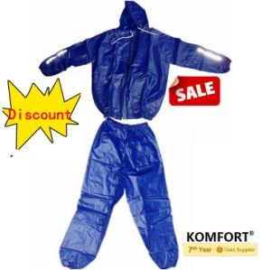 Blue Reflective Waterproof Plastic PVC Rain Suit (JMC-412K) pictures & photos