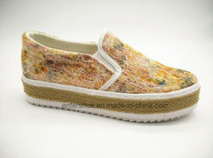Vulcanized Women Fashion Shoes with Jute Sole (ET-LD160170W) pictures & photos