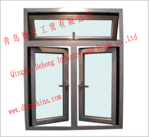 Customized White UPVC Profile Fixed Double Hermetic Glass Window/Plastic Window/Slider Window pictures & photos