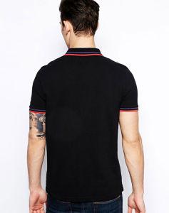 Custom 100% Cotton Men Black Polo Shirt pictures & photos