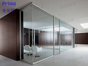 Aluminium Frame Commercial MDF Wood and Glass Partition Wall pictures & photos