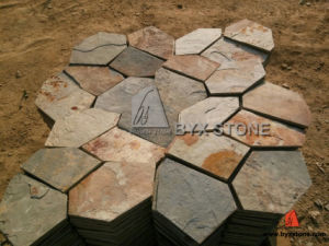 Rusty Crazy Flagstone Mats Slate for Flooring Tile pictures & photos