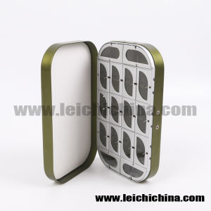 Fish Shaped Compartments Aluminum Fly Box pictures & photos