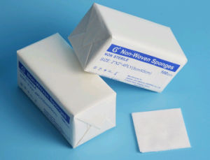 Ht-0523 Hiprove Brand Non Sterile Highly Absorbent Non-Woven Swab pictures & photos