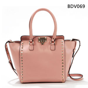 Pink Reviet Single Women PU Fashion Handbag (BDM013) pictures & photos