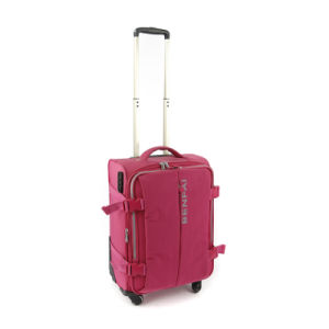 Red Pink Color Nylon Trolley Bag Luggage Bags