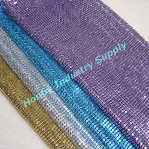 Decorative Gillter Colorful 4mm Aluminum Metallic Fabric