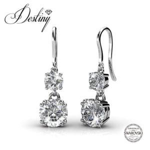 Destiny Jewellery Crystal From Swarovski Snowman Hook Earrings