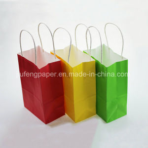 Hot Sale Kraft Paper Bag Solid Color pictures & photos