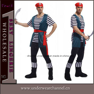 100% Actual Picture Wholesale Sexy Adult Men Pirate Costume (TCQ011) pictures & photos