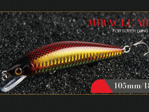 Plastic Fishing Minnow (Miracle Minnow 105mm Floating) pictures & photos