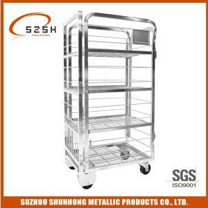 Stainless Steel Supermarket Milk Display Trolley (SH-MT02)