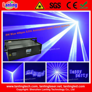 8W 40kpss Ilda Animation Laser Show System Blue Laser pictures & photos