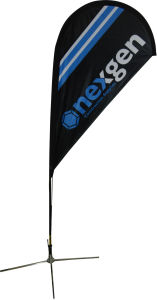 Dye-Sublimation Printed Tear Drop Flag Banner with Aluminum Pole pictures & photos