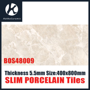 Frech Grey Color 5.5mm 400X800mmlamina Slim Porcelain Porcelain Tile pictures & photos